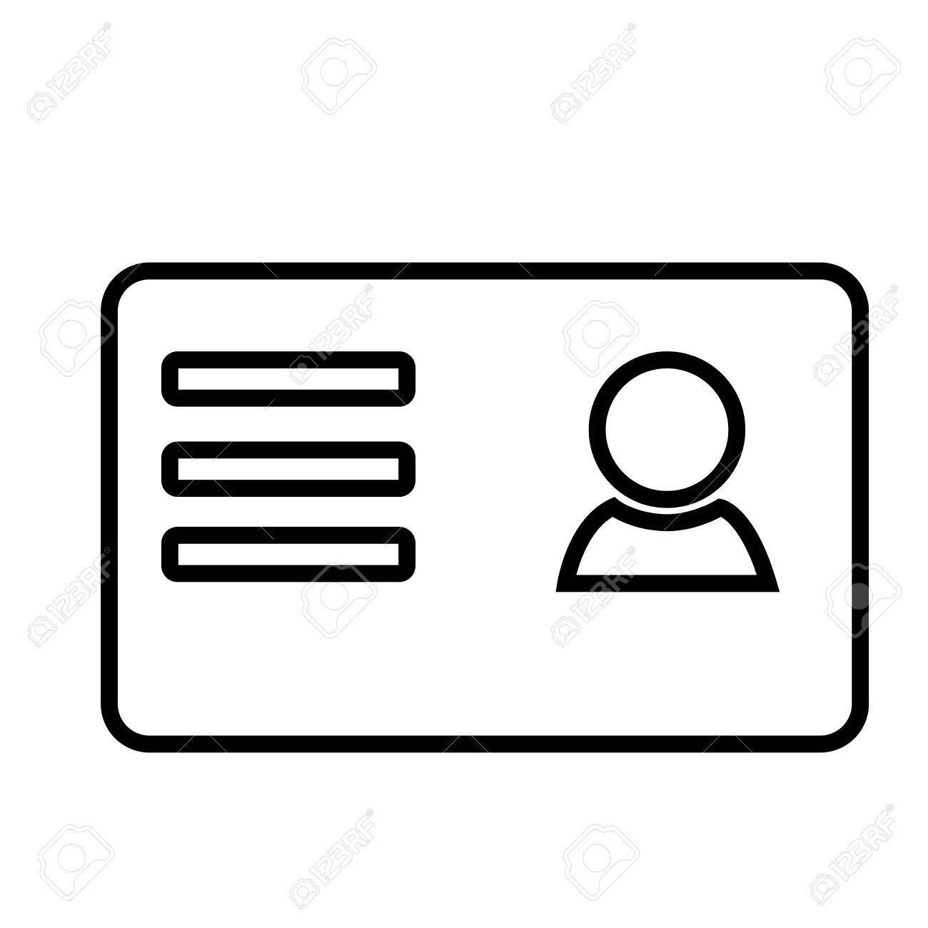 Business card icon royalty free cliparts vectors and stock business card icon stock vector 82177279 reheart Image collections