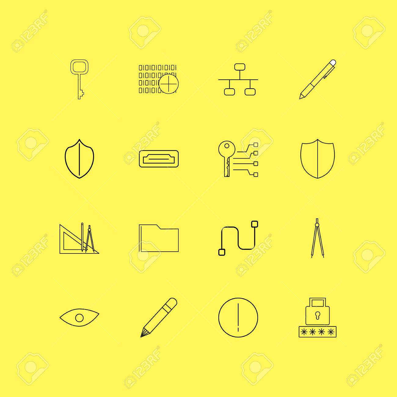 Internet Technologies linear icon set  Simple outline icons