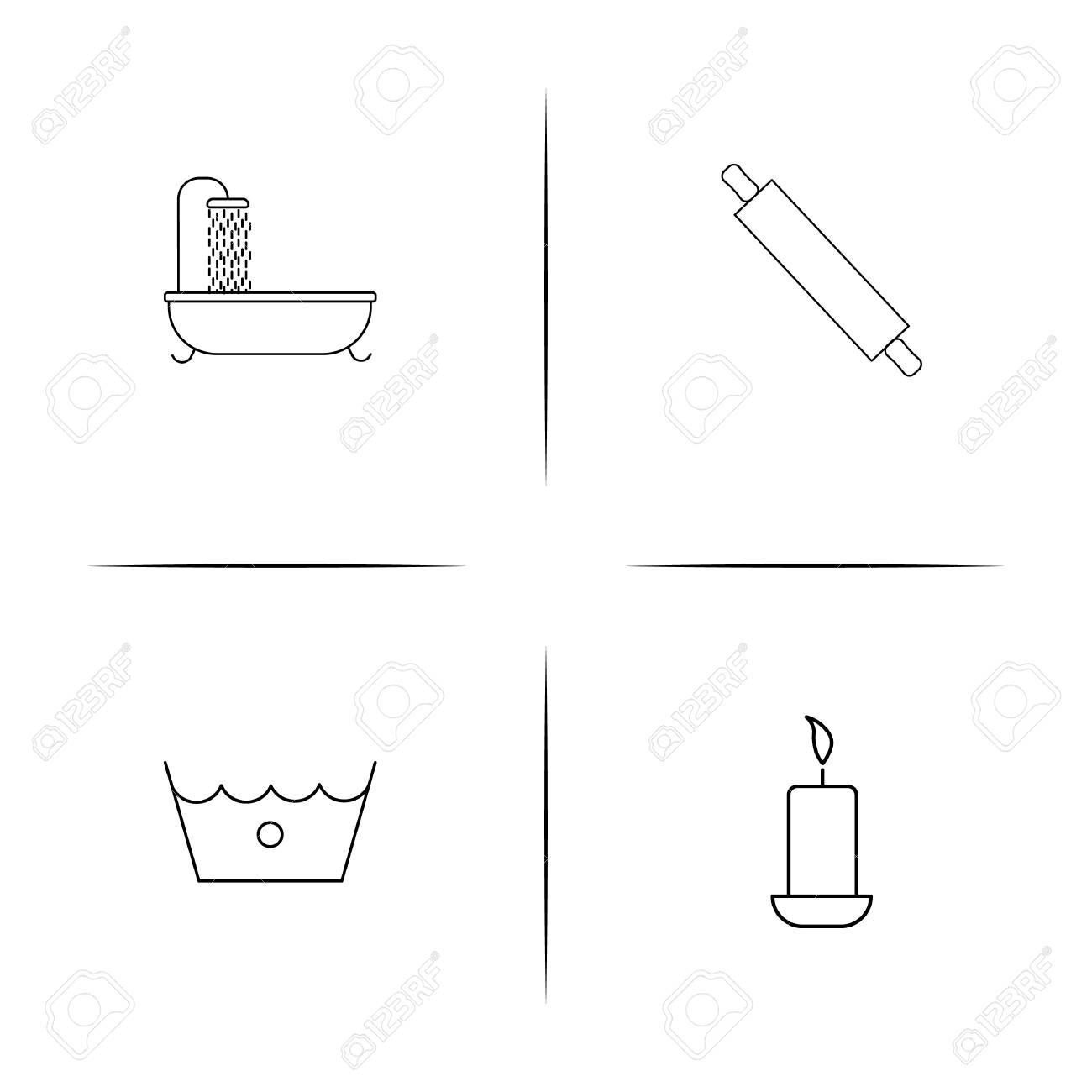 cdd945d2038e4 Electrodomésticos y equipos simples relacionados con la sombra icono de los  símbolos del esquema Foto de