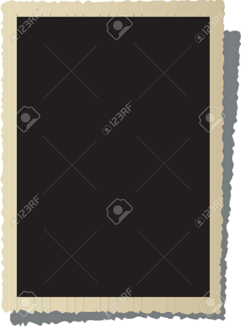 Old photo frame in separate layer for you image Stock Vector - 839292