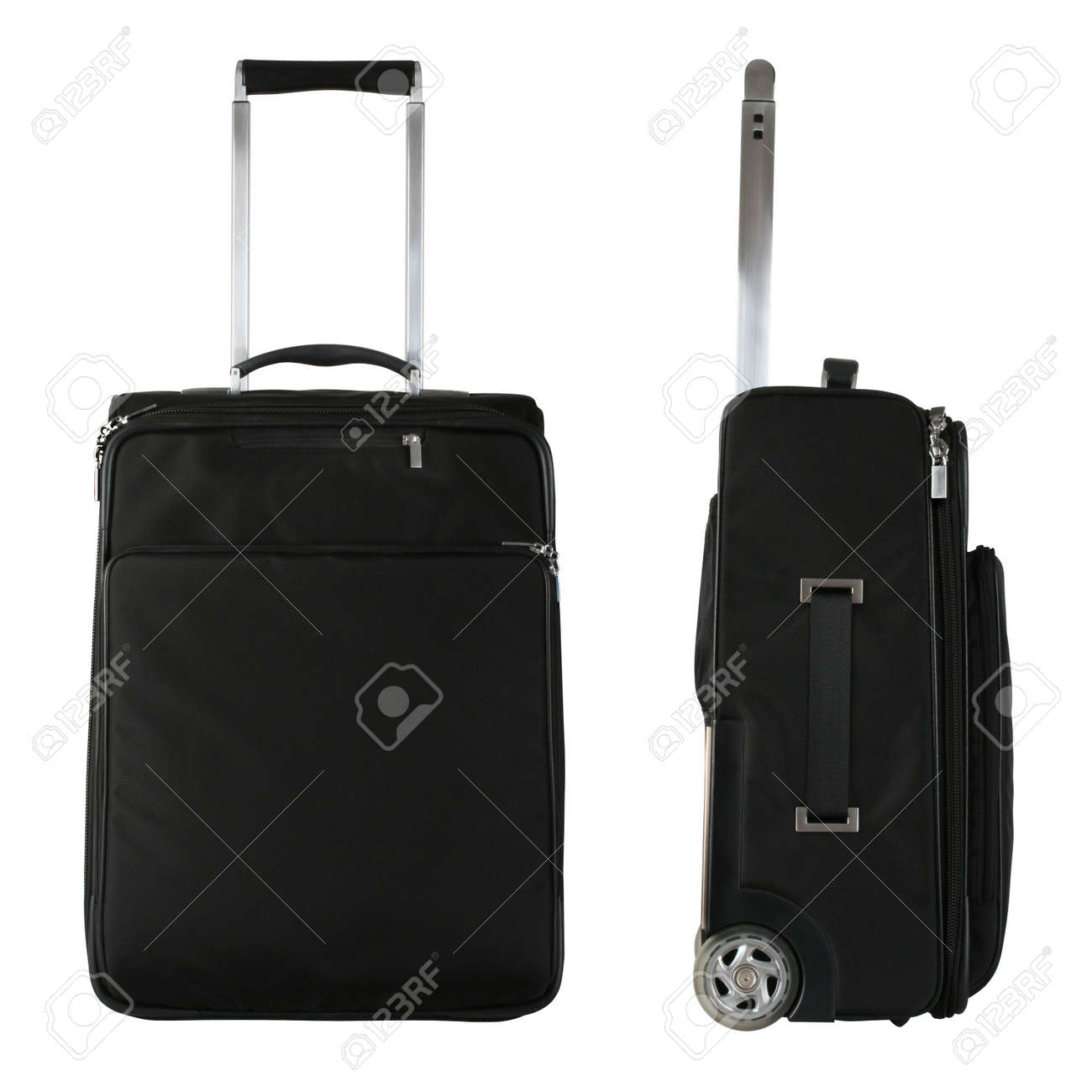 Black Travel Bag From Front And Side View Stock Photo, Picture And ...