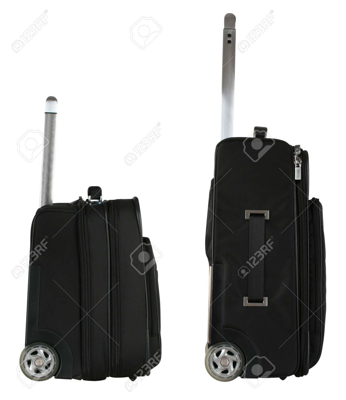 Black Travel Bag From Side View Stock Photo, Picture And Royalty ...