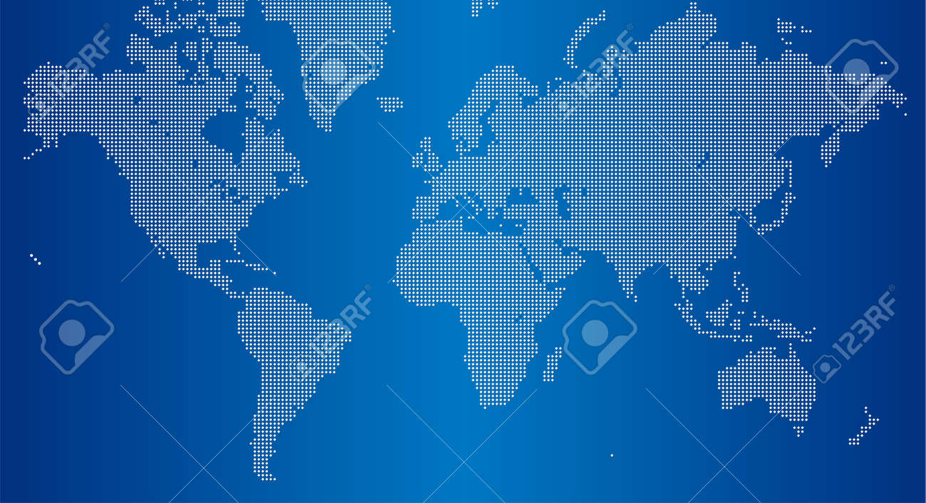 世界地図の正方形ドット