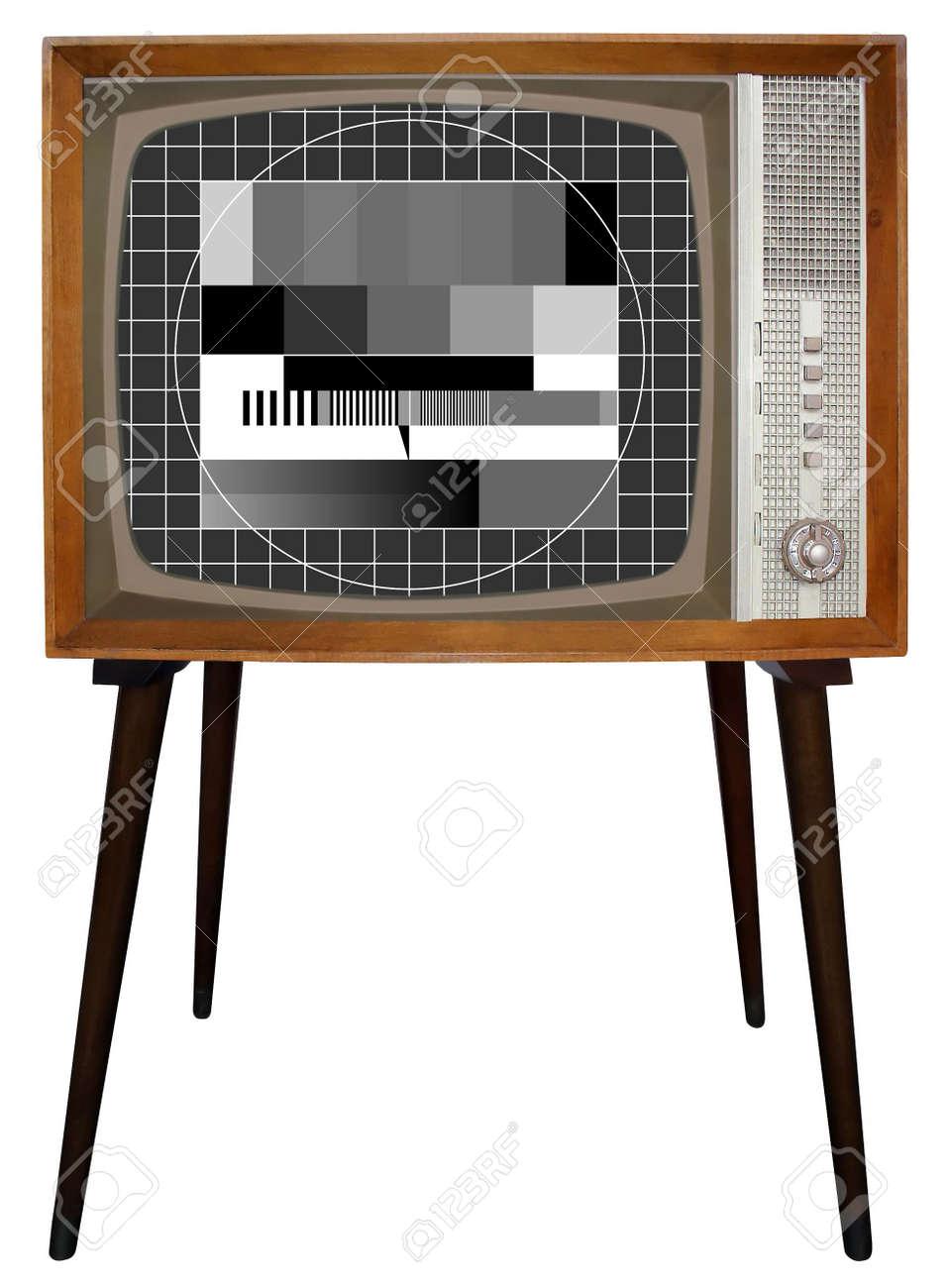Old Nostalgic BW Television Stock Photo - 3408104