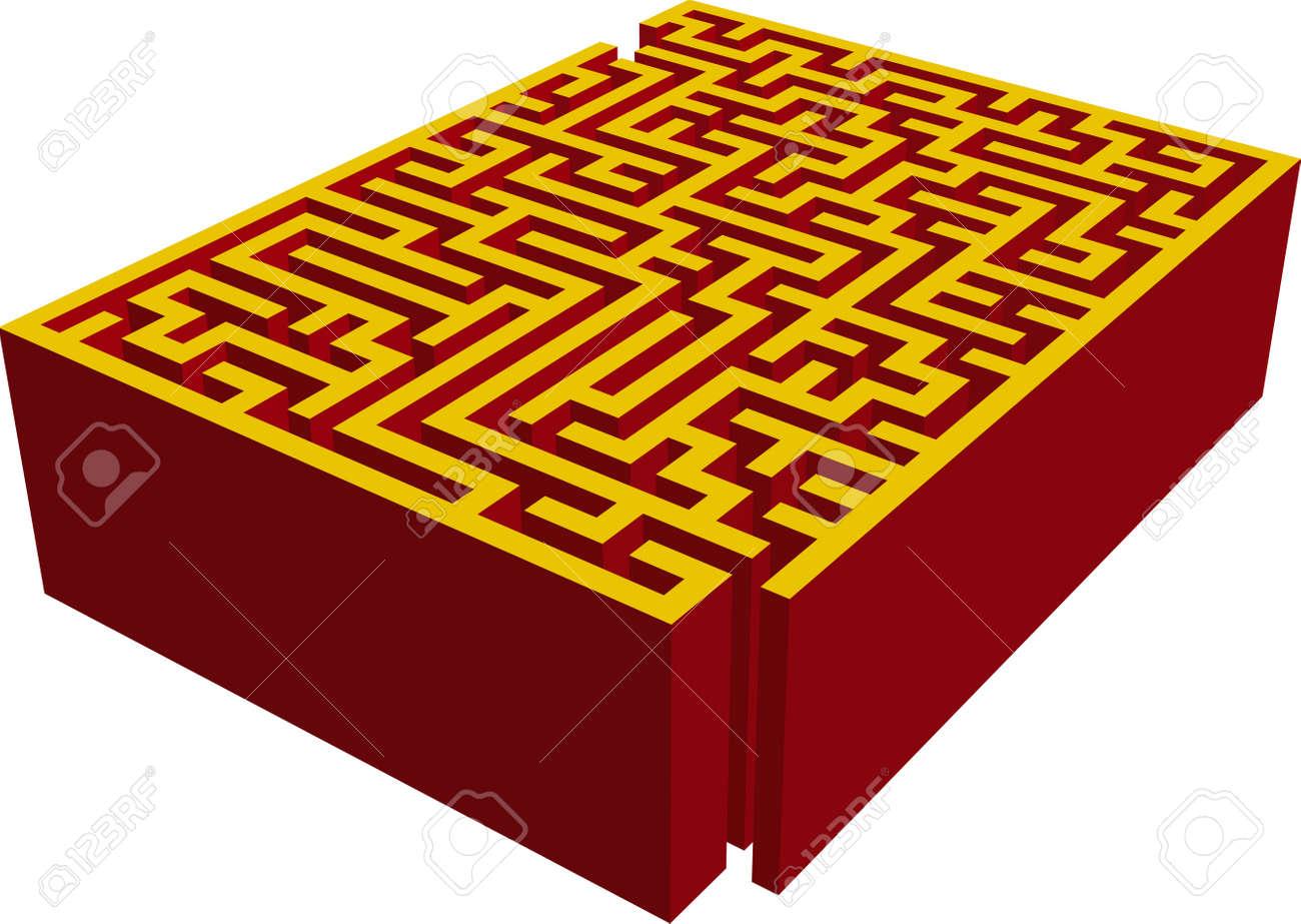 Entrance of the 3D maze Stock Vector - 3702455