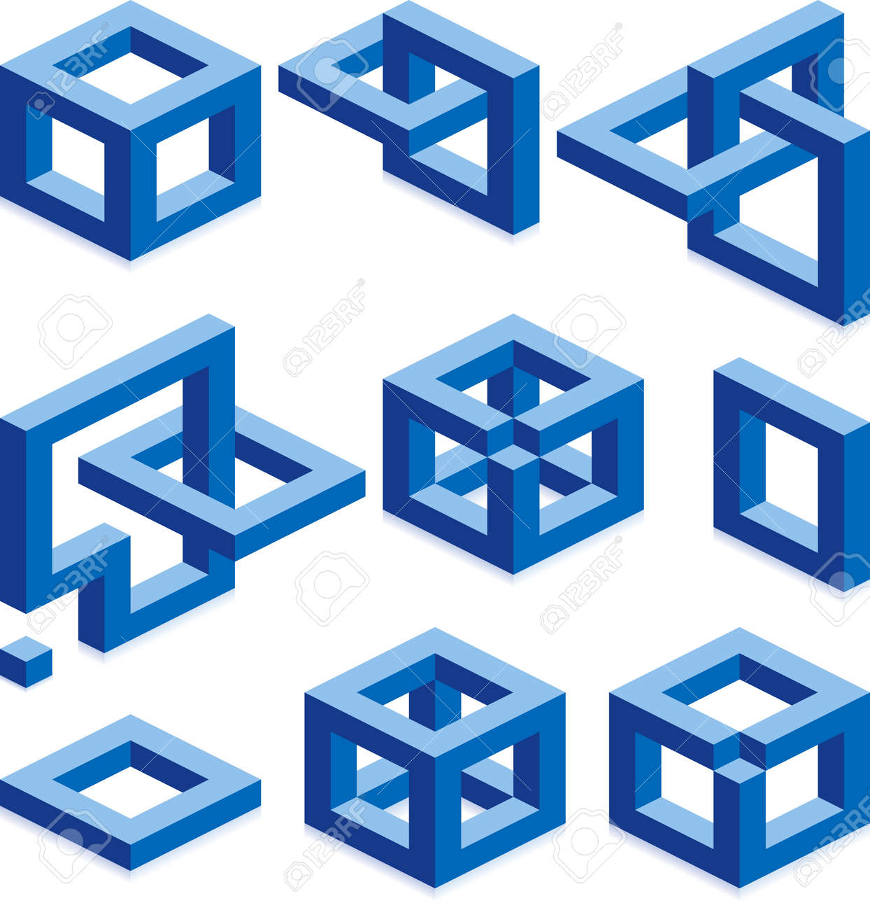 Cube vector signs for construction business Stock Vector - 4596123