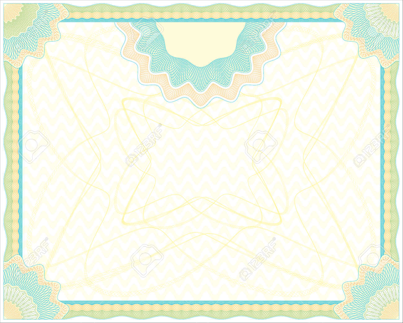 Secured Guilloche diploma background. In vector file elements are in layers for easy editing Stock Vector - 6288100