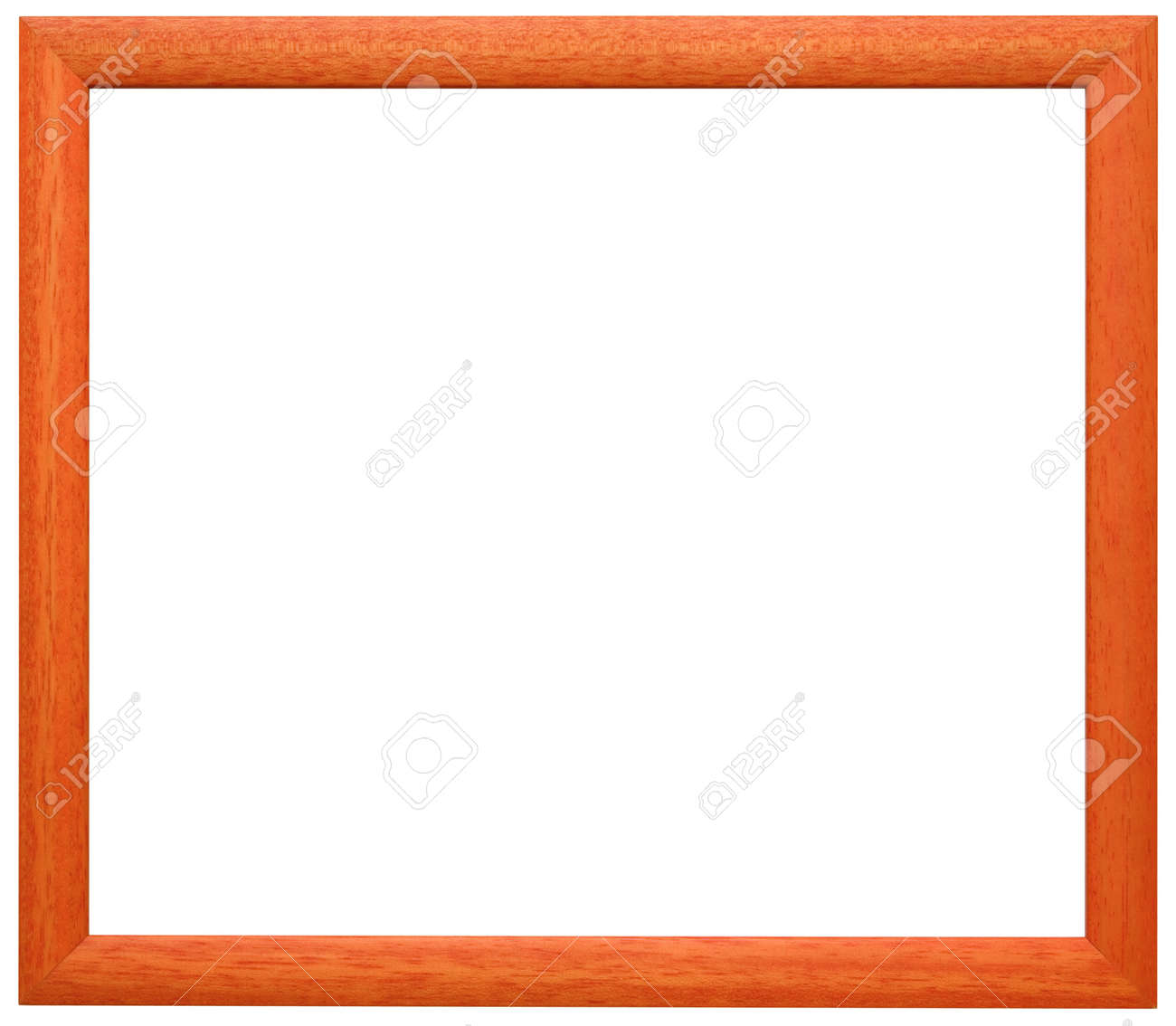 Simple orange wooden frame Stock Photo - 8529320