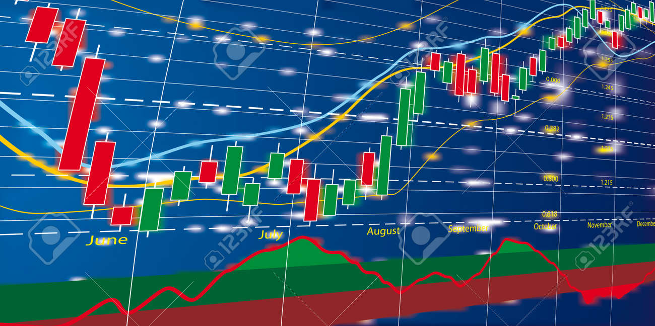 Vector illustration of Forex growth candlestick diagram - 9493712