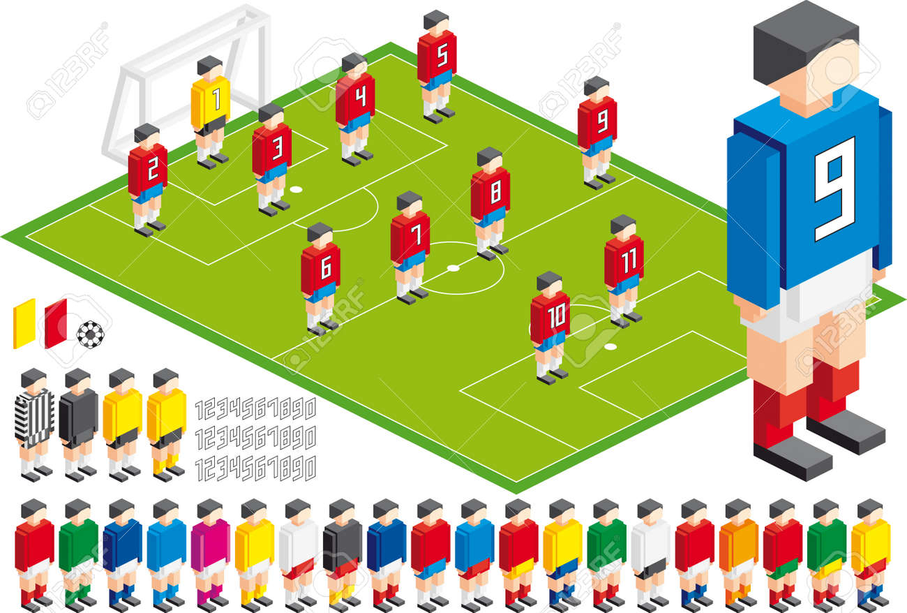 Vector illustration of Soccer tactical Kit, elements are in layers for easy editing - 9930112