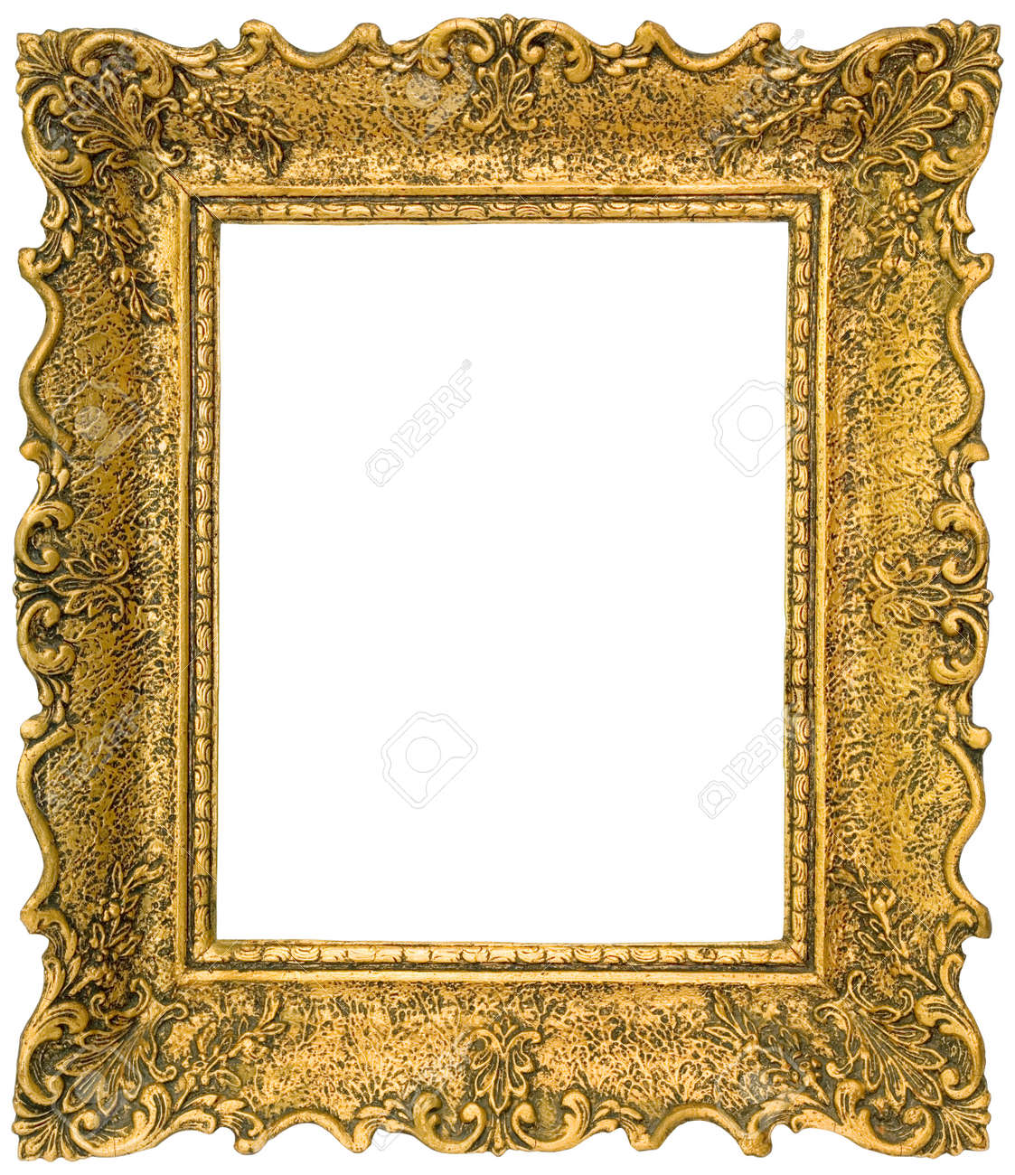 Unique Old Gilded Golden Wooden Frame Isolated Stock Photo, Picture And  TV48