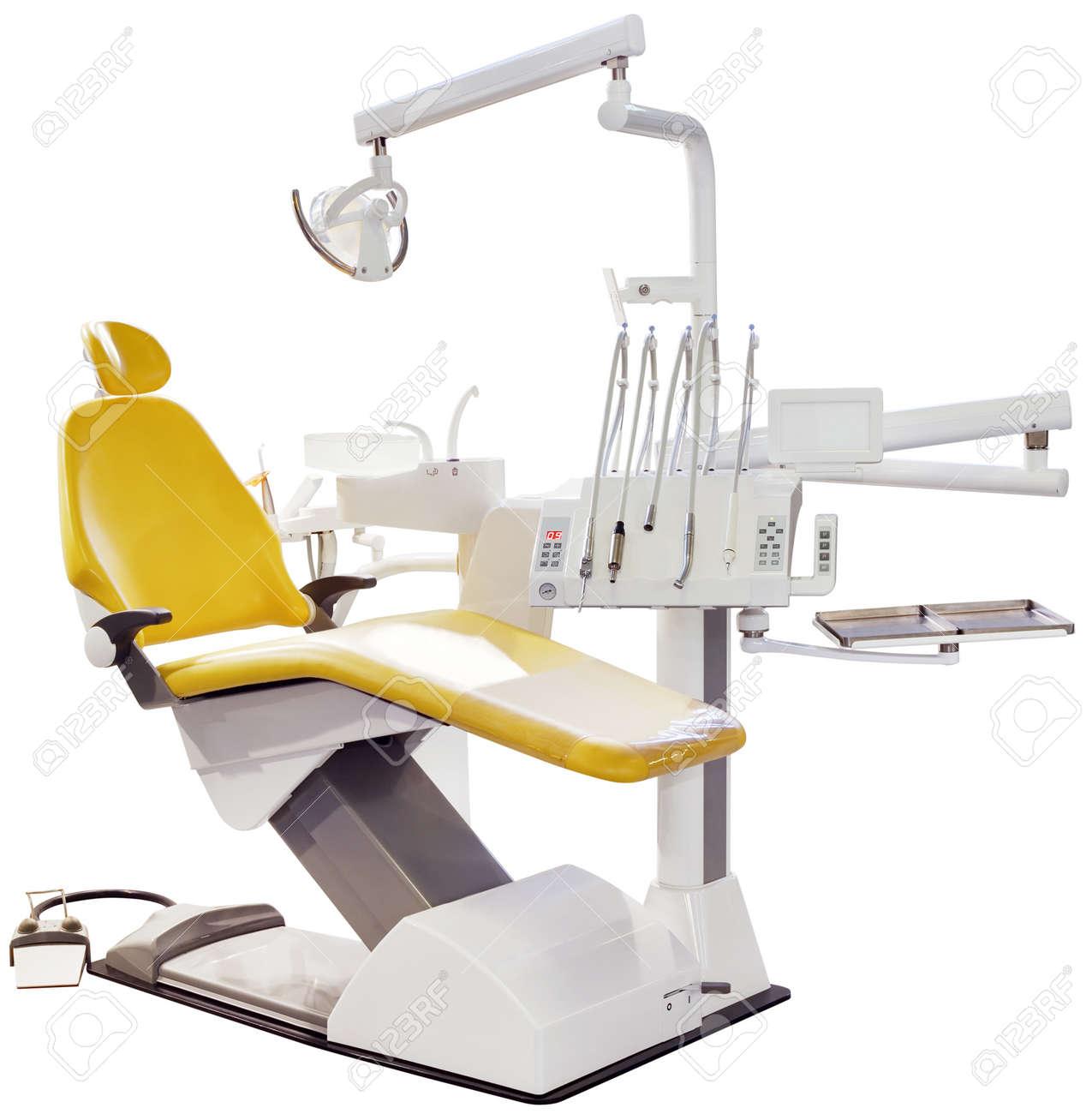Modern Dentist Chair Isolated Standard-Bild - 13759713