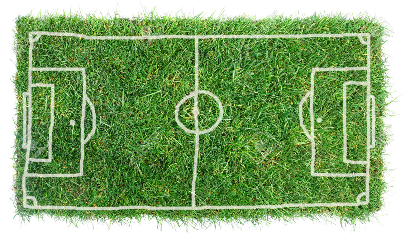 Doodle Soccer Field Isolated on White Background Standard-Bild - 14062557