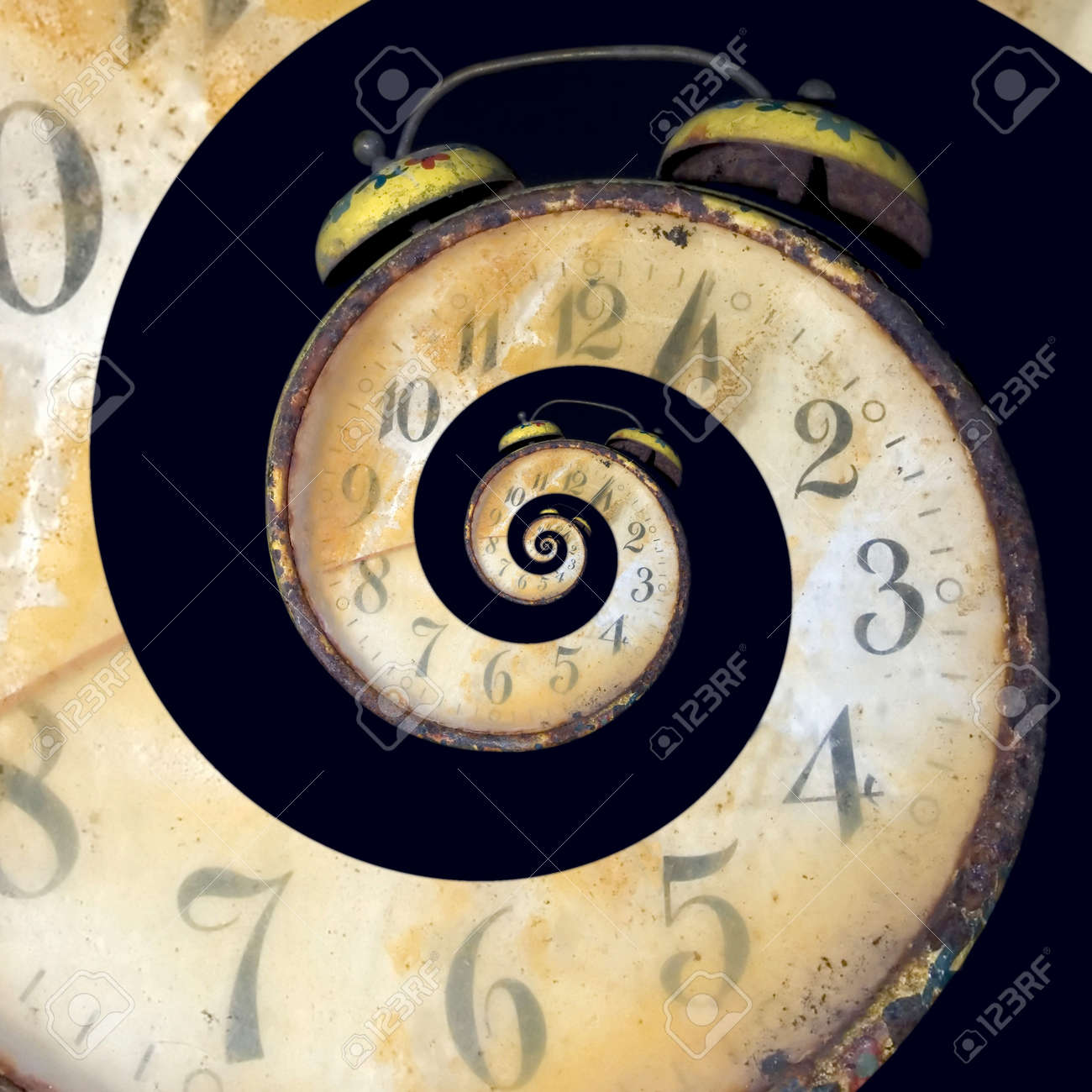 Conceptual Image of Endless Time Passing Standard-Bild - 14174434