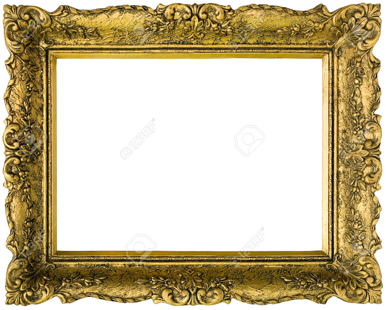 Golden gilded picture frame stock photo picture and royalty free golden gilded picture frame stock photo 14455541 jeuxipadfo Images