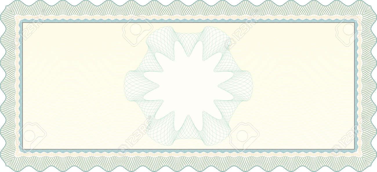 Guilloche Voucher Coupon Standard-Bild - 17123282