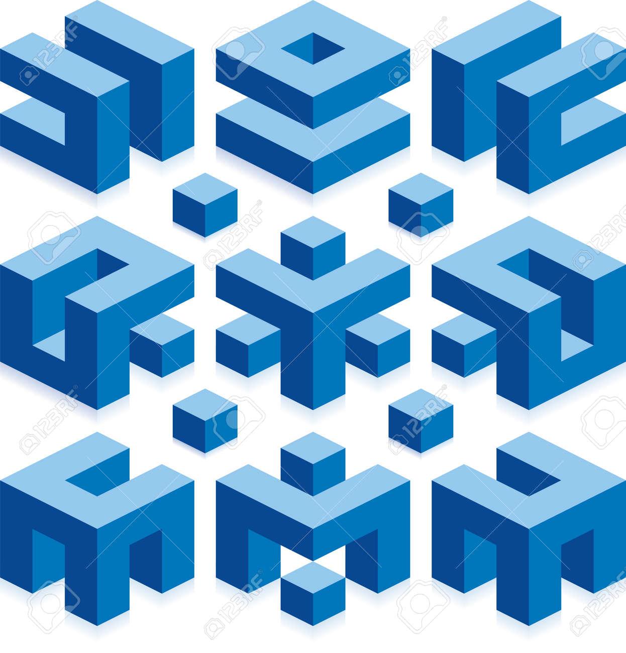 Cube Logo Elements for Construction Business Standard-Bild - 18506740