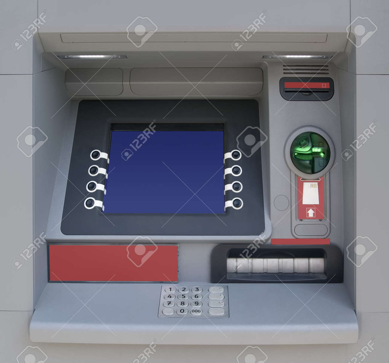 Automatic Teller Machine with Blank Screen Standard-Bild - 18650198