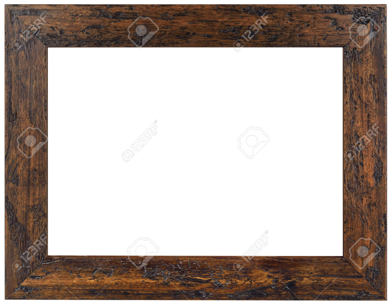 Wooden Picture Frame Isolated with Clipping Path Standard-Bild - 18711130