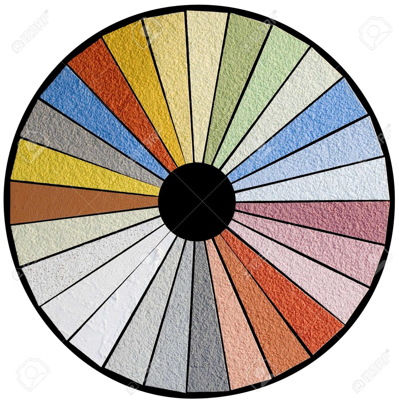 Facade Color Swatch Wheel Sample Stock Photo - 19088275