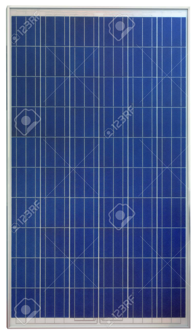 Photovoltaic Solar Panel Isolated on White Background Standard-Bild - 22980355