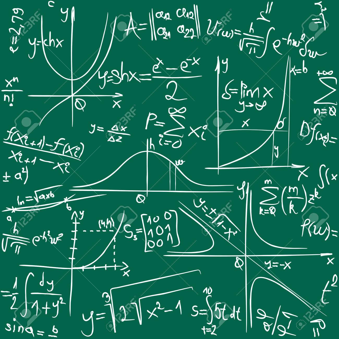 Math Seamless Background Pattern Texure Standard-Bild - 34781632