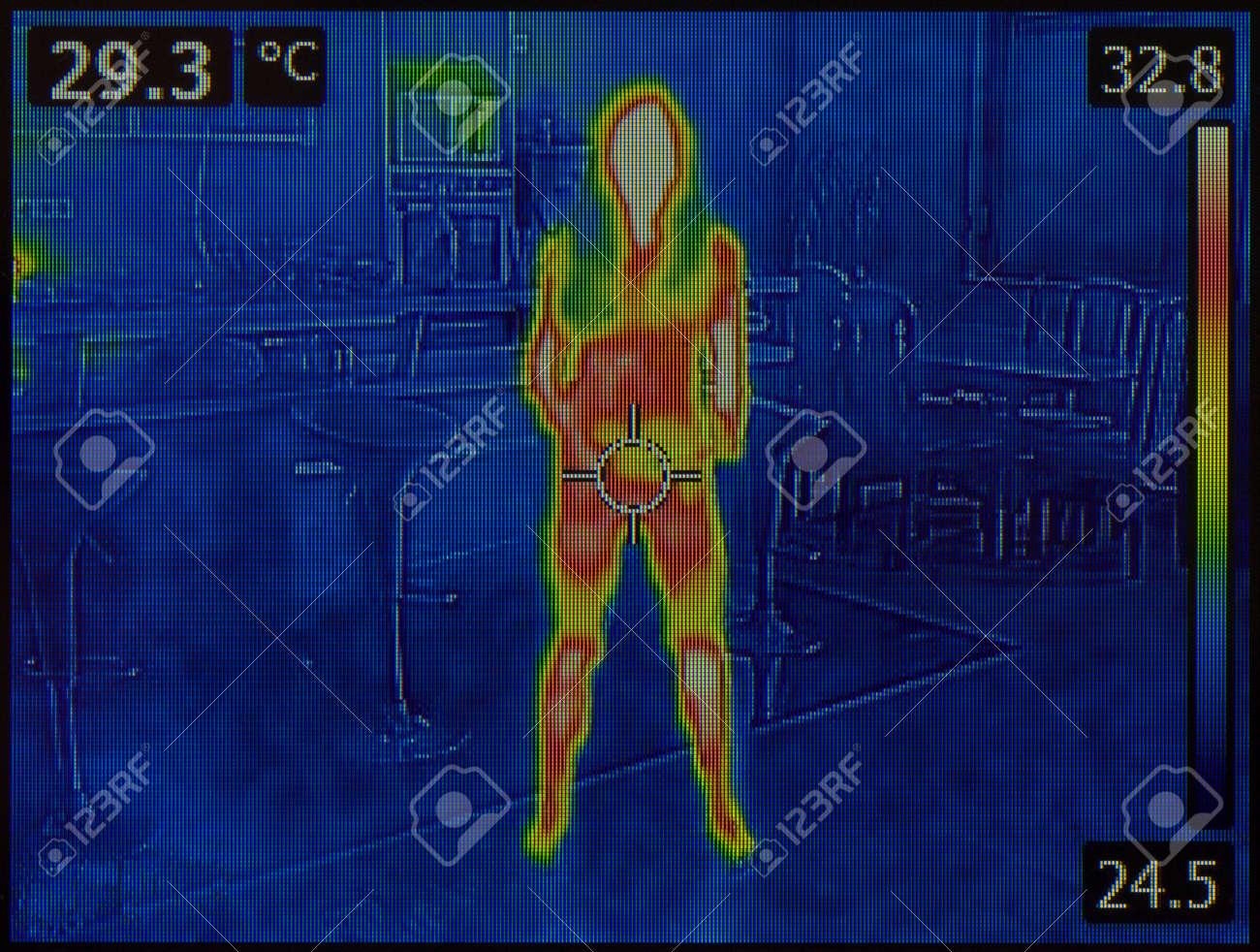 Thermal Image of Human Body Standard-Bild - 50836177