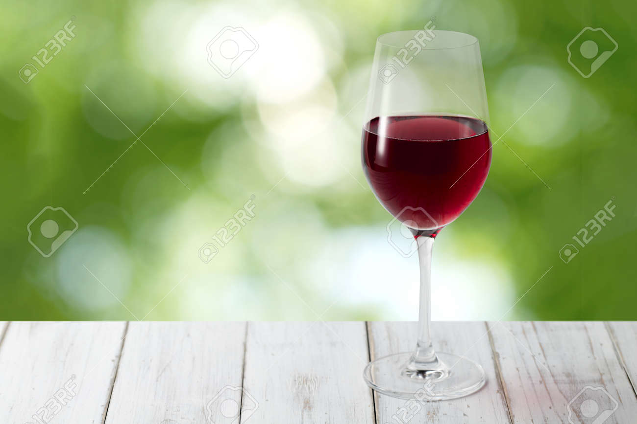 Red Wine and Forest Backgrounds - 154536481