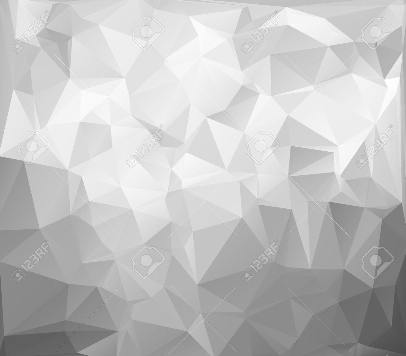 Grau, Weiß, Hell Polygonal Mosaik Hintergrund, Vektor-Illustration ...