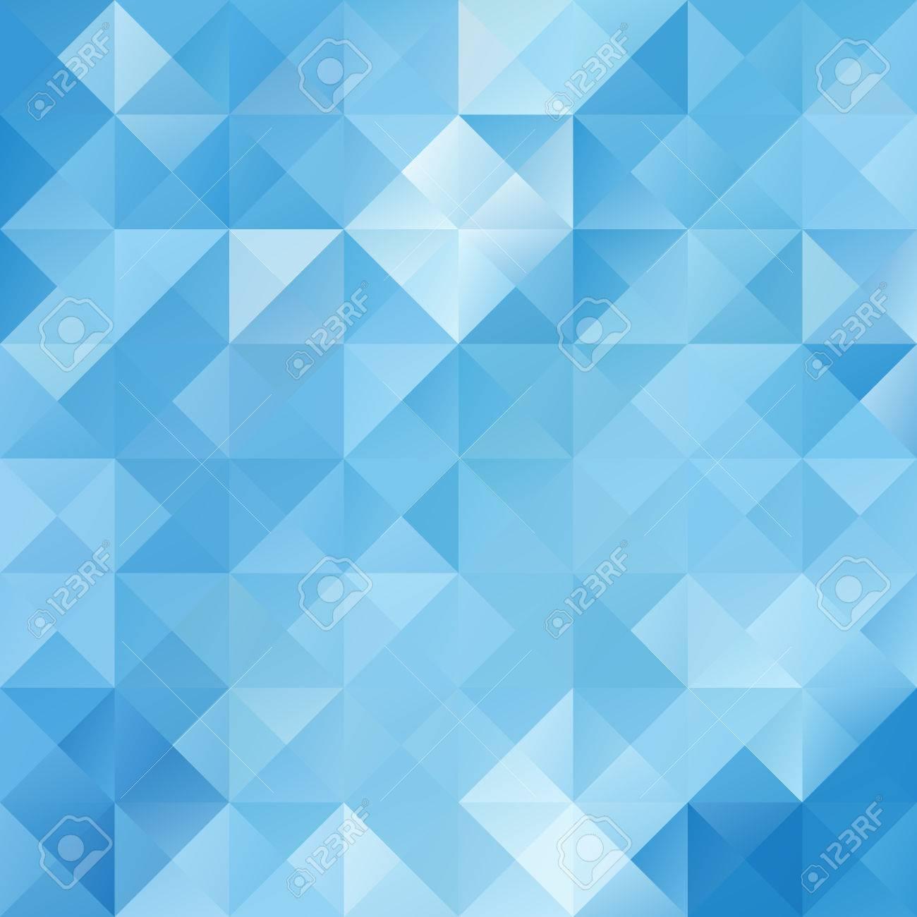 Blue Bright Mosaic Background, Creative Design Templates Royalty ...