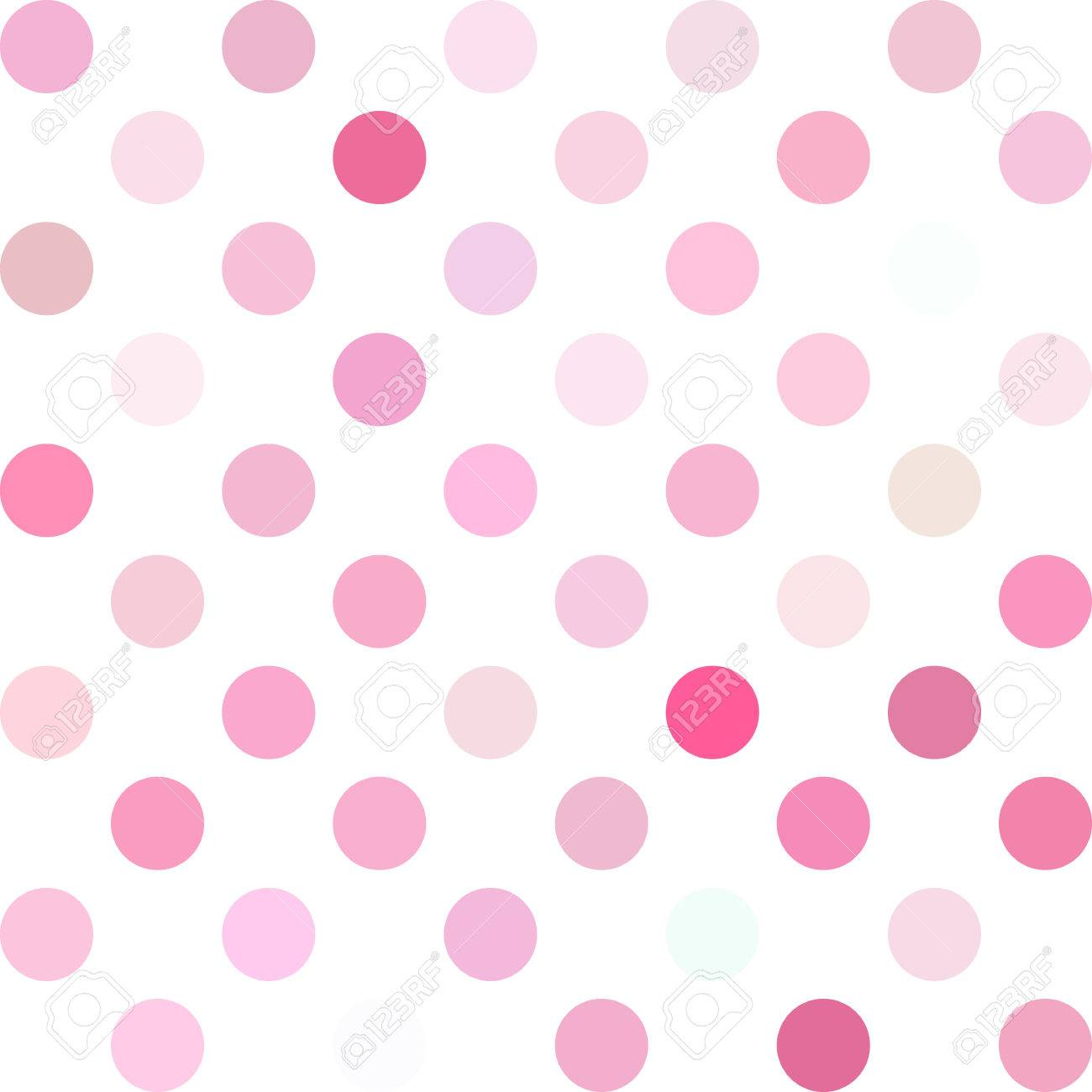 pink polka dots background creative design templates royalty free