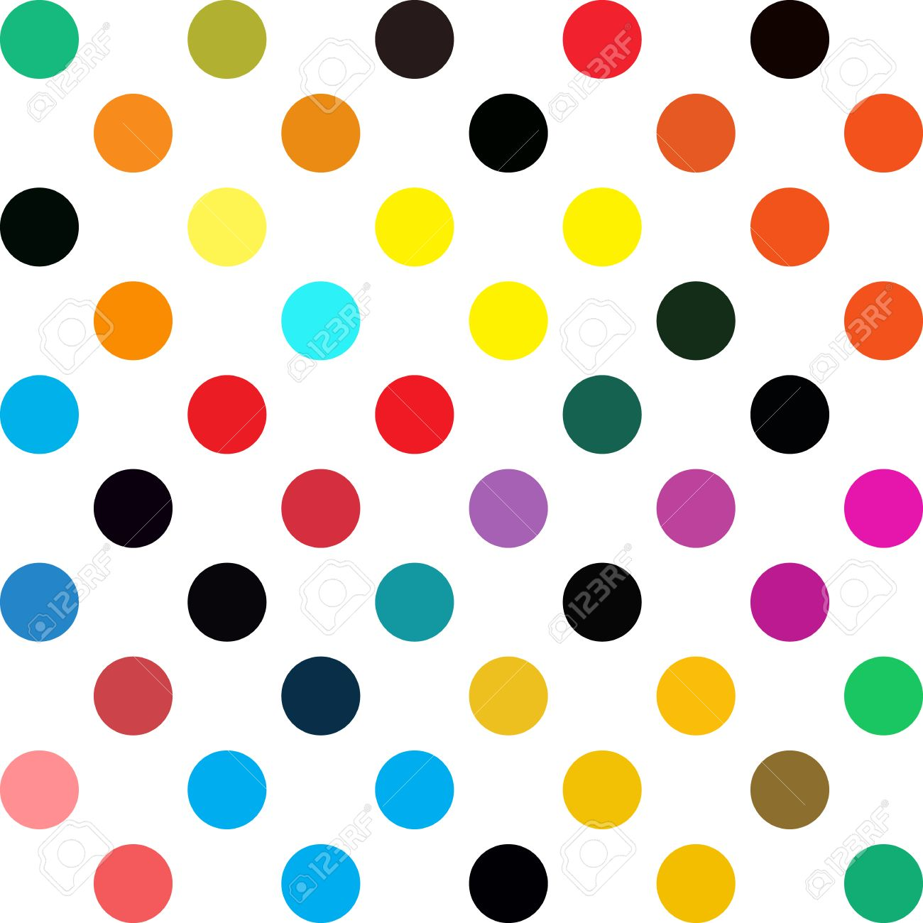 colorful polka dots background creative design templates royalty