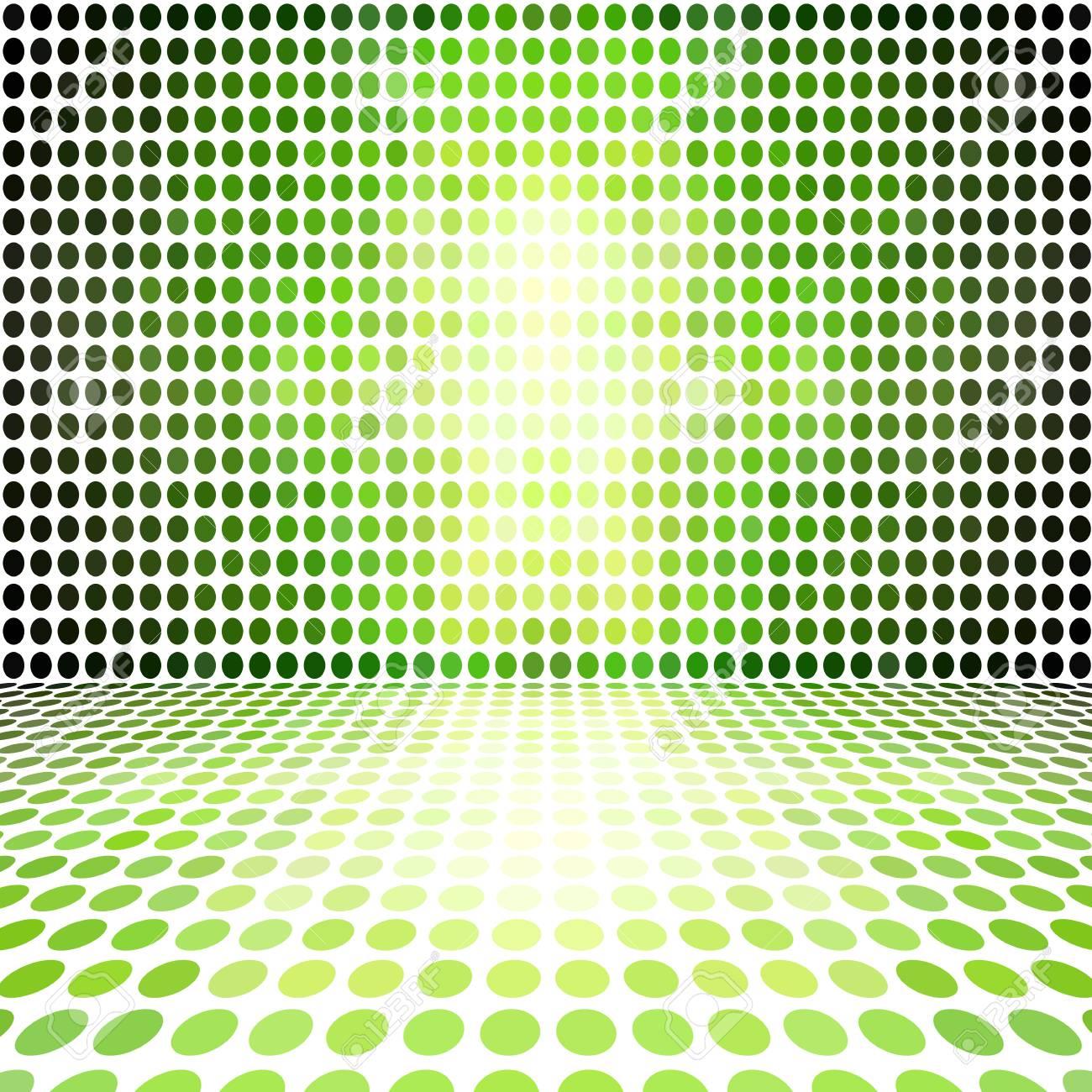 Grüner Punkt Leere Perspective Digitalen Raum-Wand-Raum Lizenzfreie ...