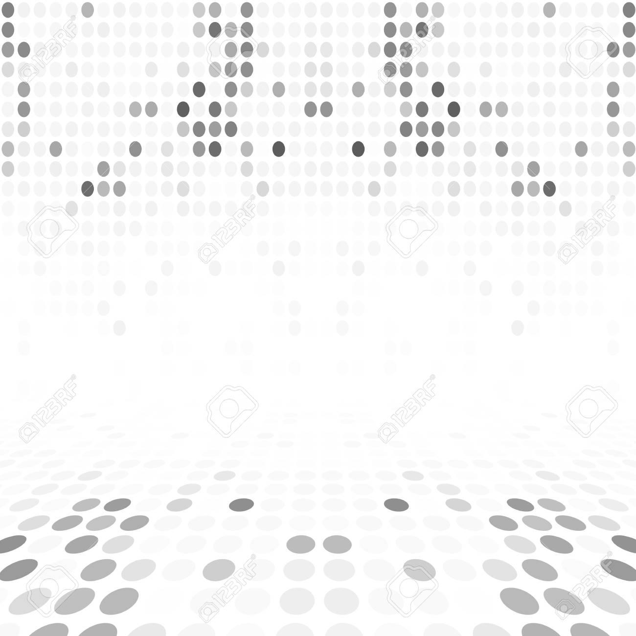 Grau Weiß Dot Leere Perspective Digitalen Raum-Wand-Raum Lizenzfreie ...