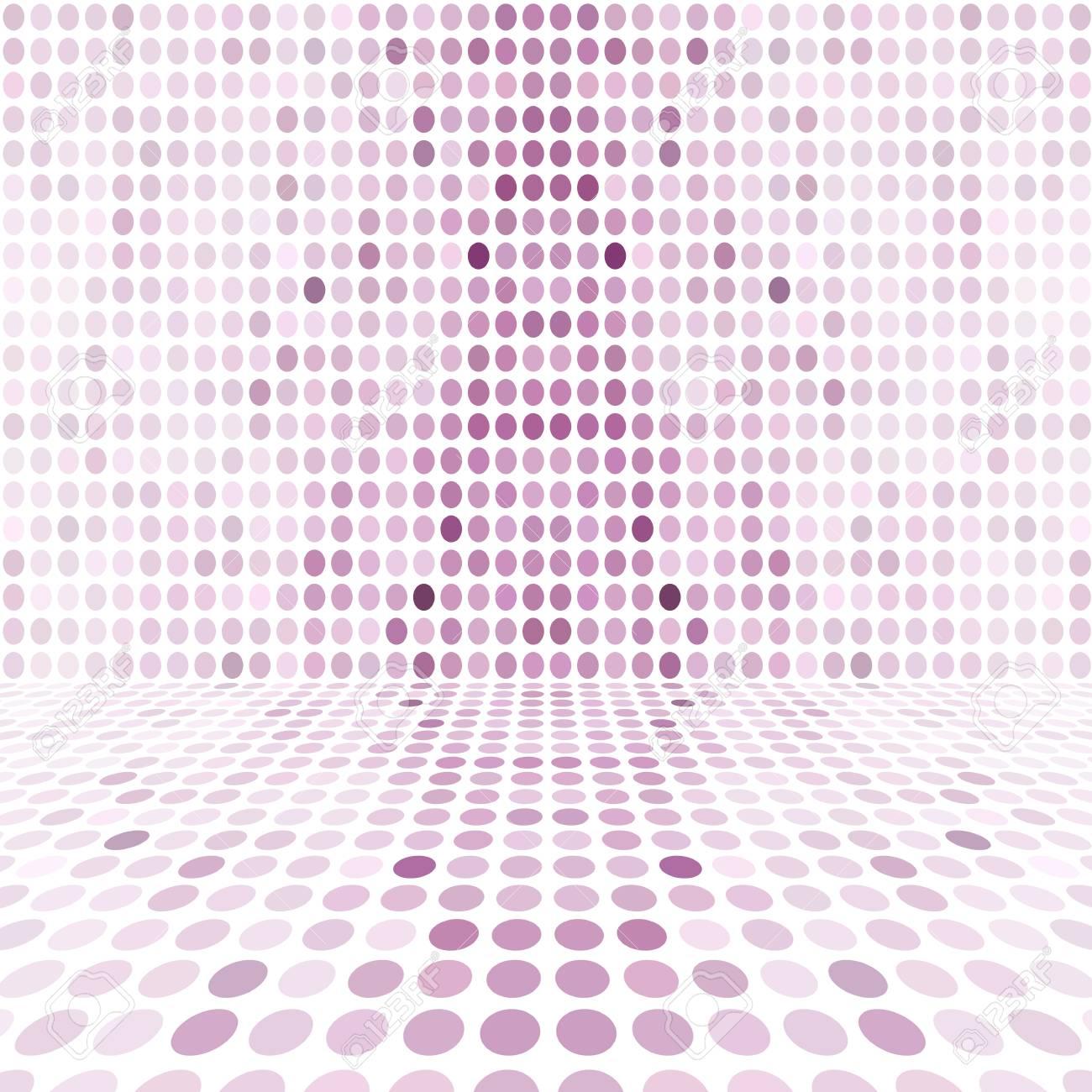 Pièce De Mur D Espace De Digital De Point Pourpre Vide De Perspective Pourpre
