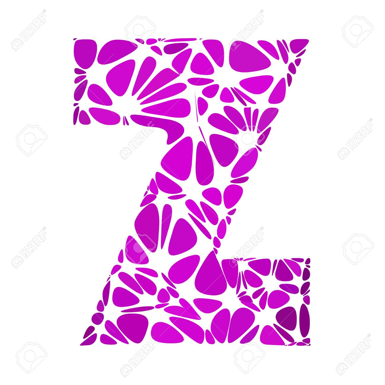 Purple Alphabet z Cell Style, Creative Design Templates
