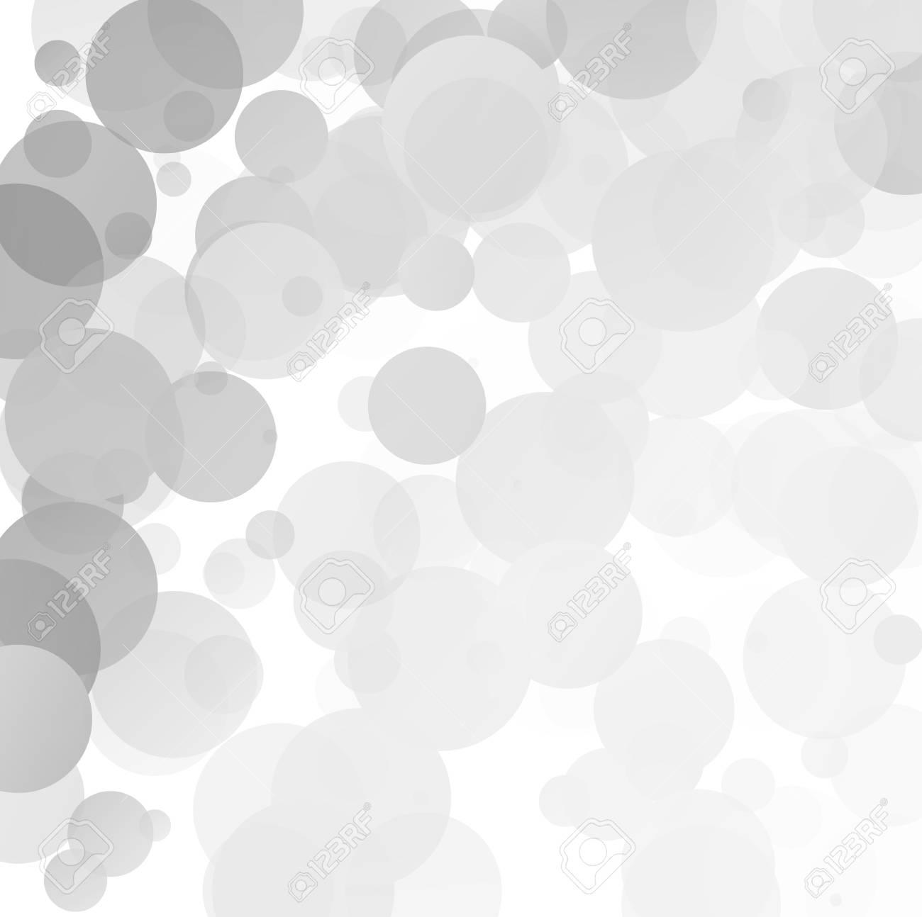 Vettoriale Bolle Unico Sfondo Grigio Bianco Brillante Vettoriale