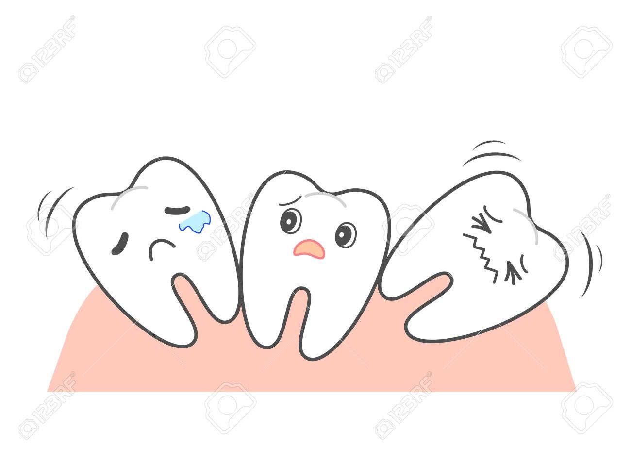 Straightening rattling teeth Front teeth orthodontic - 150089322