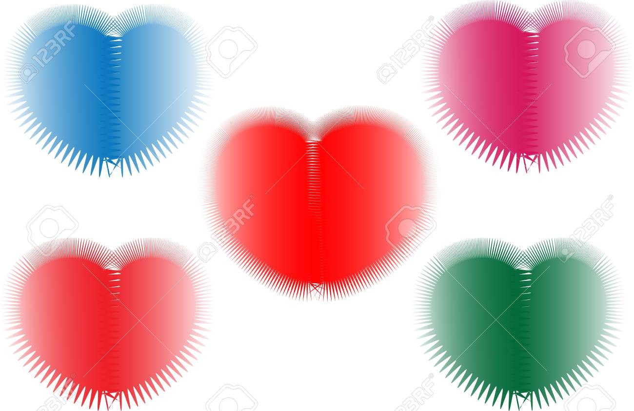 It is a picture of some colorful heart, it can be used as a wallpaper or theme. Stock Vector - 13197115