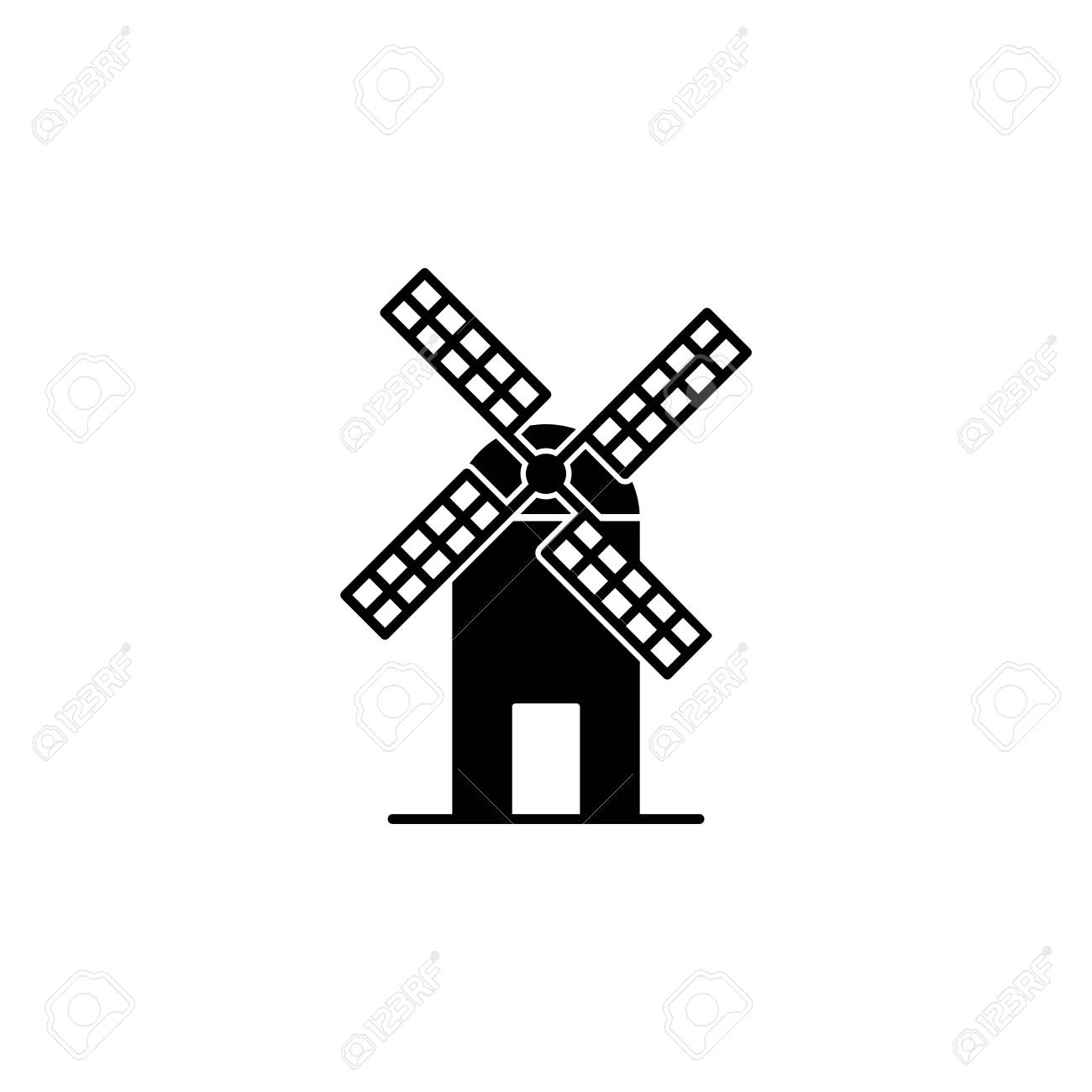 Illustration Vector graphic of Windmill icon template - 153262187