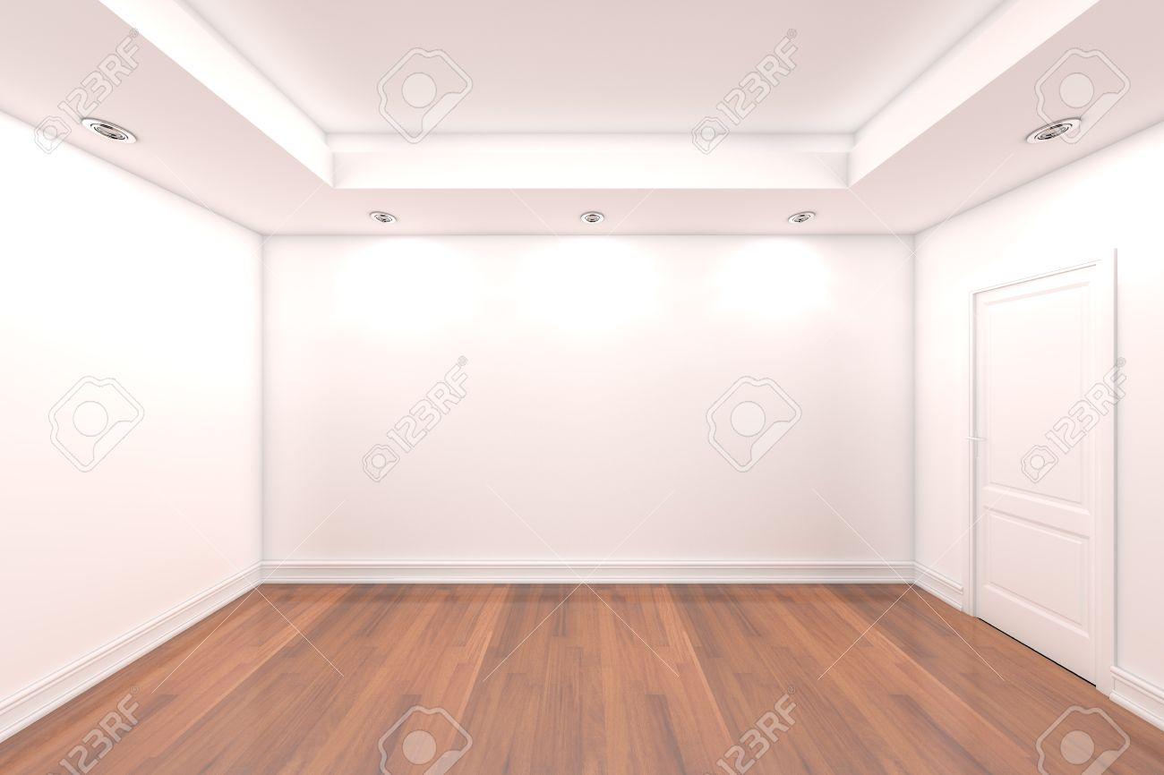 Home interieur rendering met lege kamer kleur muur en versierde ...
