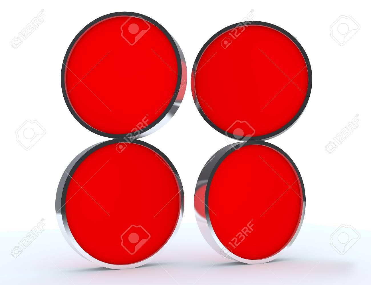 Cuatro Pantalla En Blanco Rojo Redondeado Nueva Caja De Diseño De ...