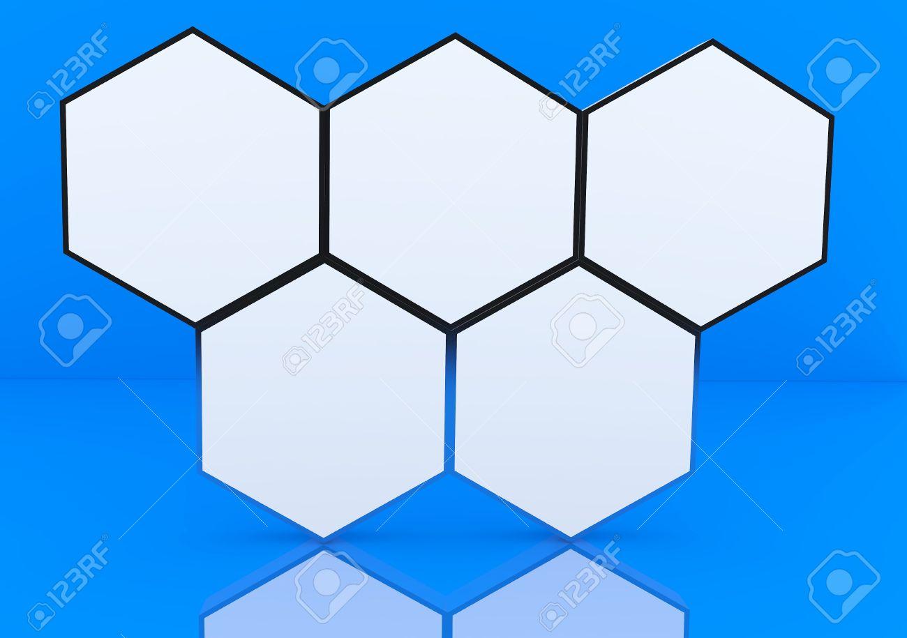 Five Blank Hexagon Box Display New Design Aluminum Frame Template ...