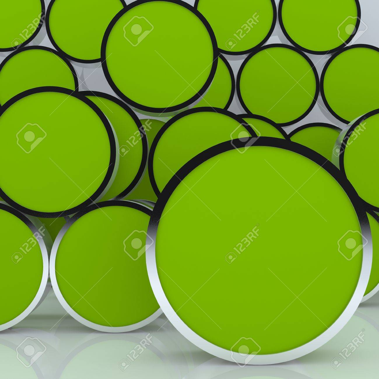 3D blank abstract green rounded box display new design aluminum frame template for design work, on white background Stock Photo - 12655873