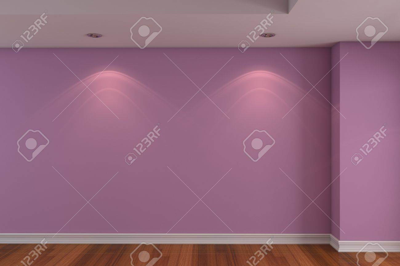 Home Interior Rendering With Empty Room Dark Pink Color Wall Stock Photo Picture And Royalty Free Image Image 12655905