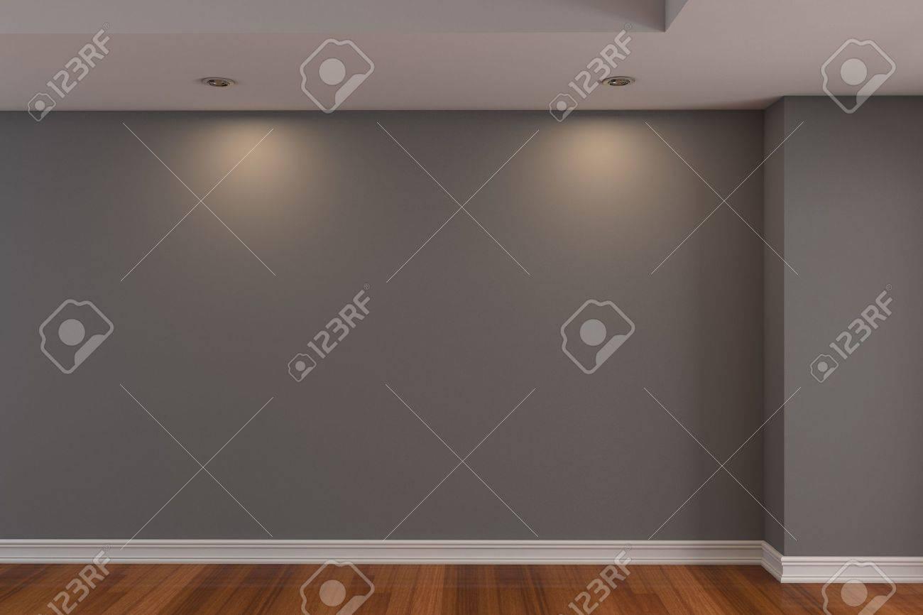 Home interieur rendering met lege kamer grijze kleur muur en ...