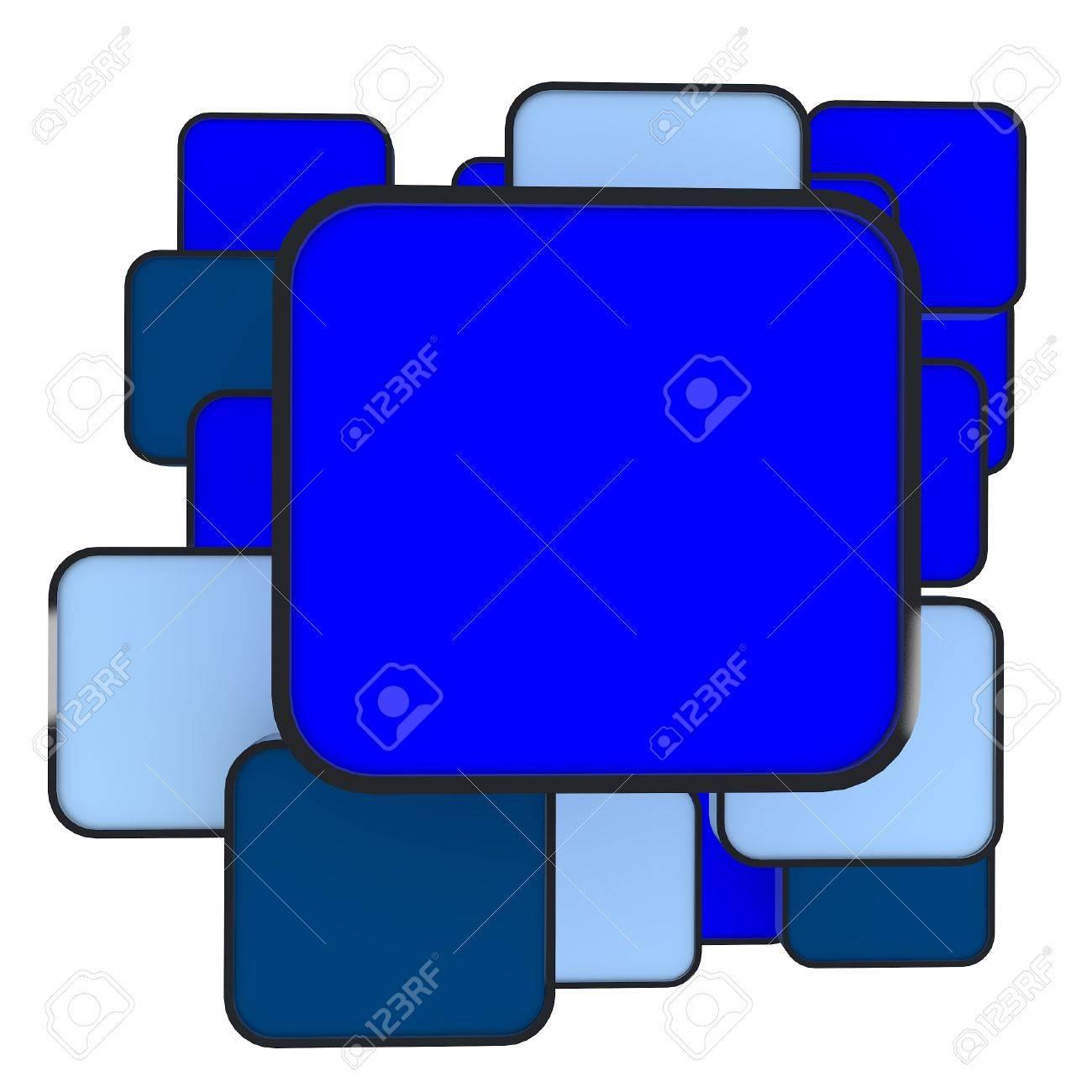 3D Abstrakte Leere Blaue Box Display Neuen Design Aluminium-Rahmen ...