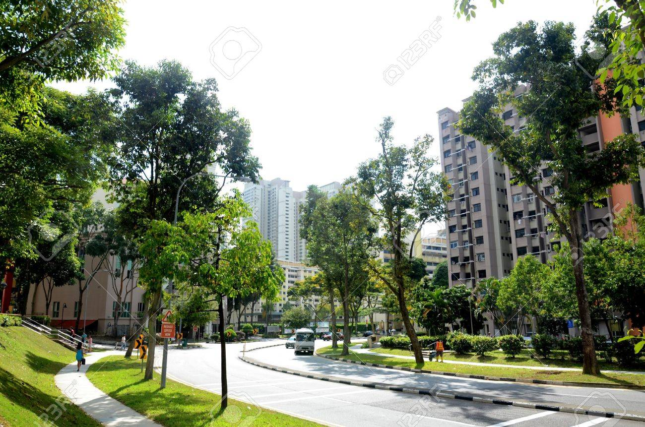 Housing and transportation thoroughfare of the general public in Singapore - 14676045