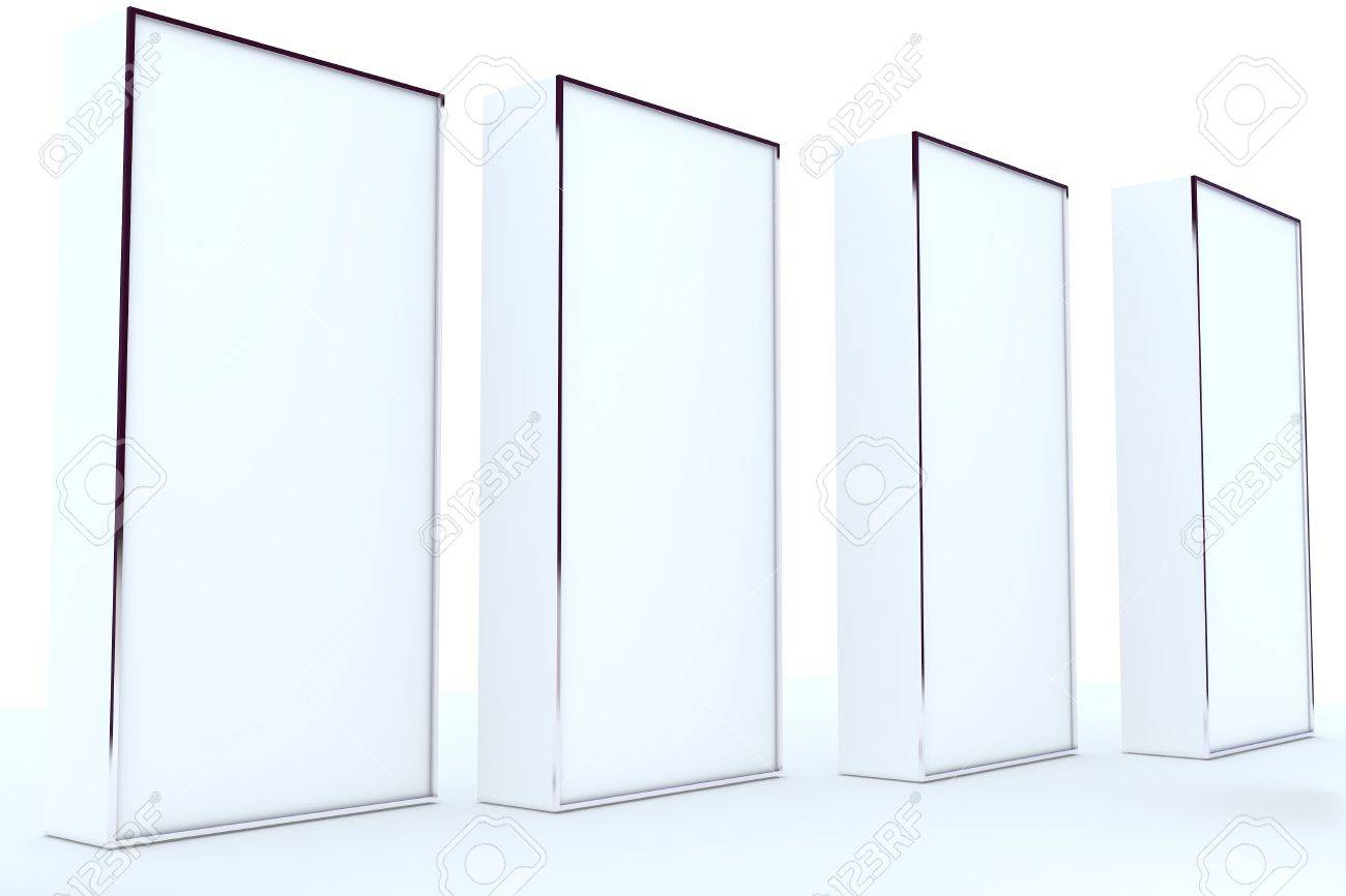 Blank Box Display New Design Aluminum Frame Template For Workisolate On White Background