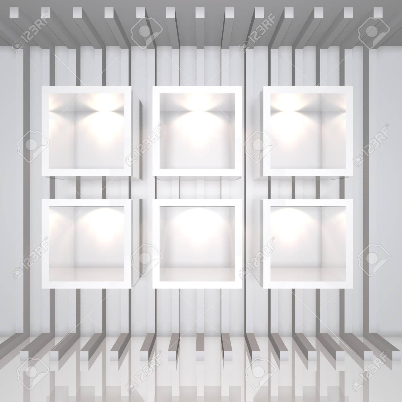 Liebenswert Weißes Regal Sammlung Von 3d-weiße Regale Und Für Wrap Werbung Auf
